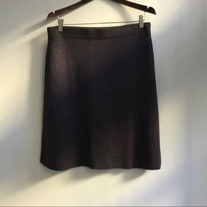 Nic + Zoe gray textured A-line knit skirt, size L